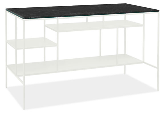 Bowen 60w 30d 36h Counter Table with Narrow Shelves