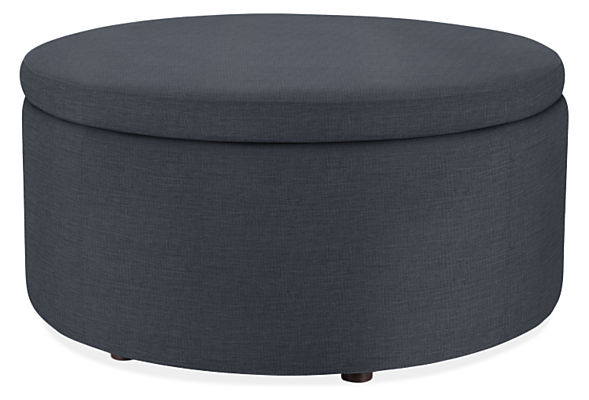 "Boyd 36"" diam Outdoor Storage Ottoman"
