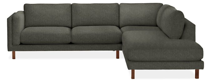 """Cade 112x107"""" Three-Piece Sectional with Left-Back Sofa"""