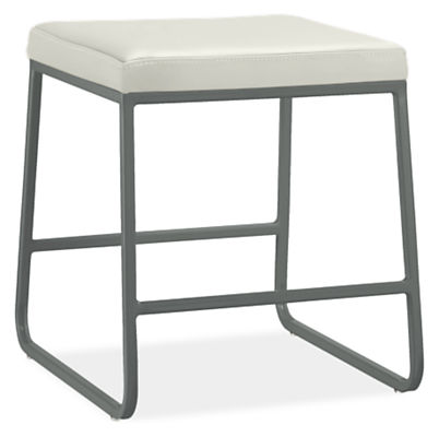 Collins Stool with Leather Seat