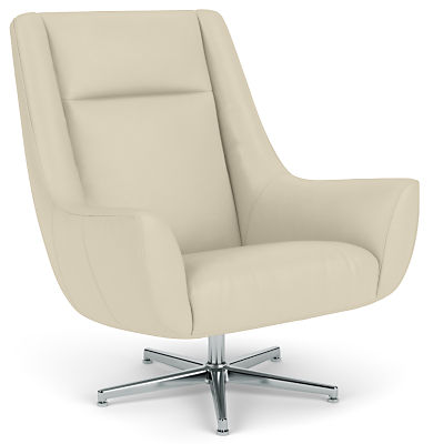 Charles Swivel Chair with Aluminum Base
