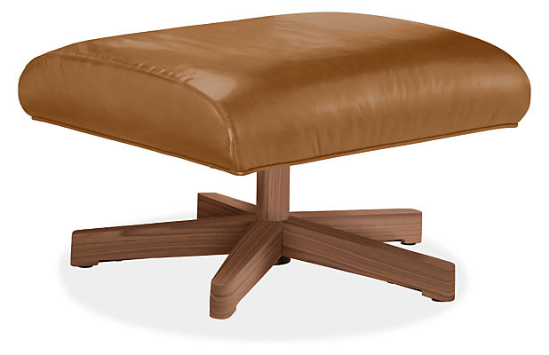 Charles 24w 20d 14h Ottoman with Wood Base