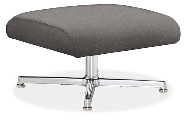 Charles 24w 20d 14h Ottoman with Aluminum Base