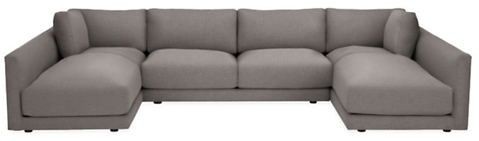 """Clemens 140x74"""" Three-Piece U-Shaped Sectional"""