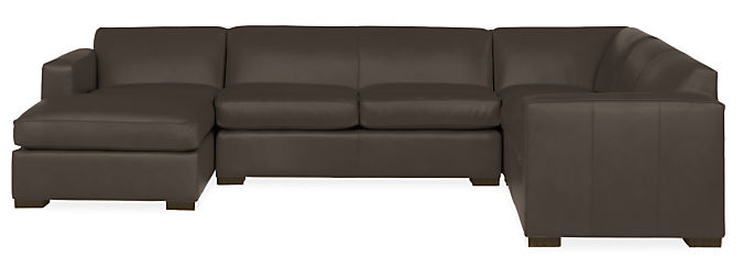 """Ian 137x96"""" Four-Piece Sectional with Left-Arm Chaise"""