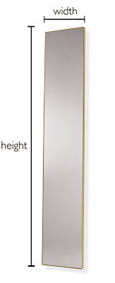 Infinity Custom Rectangle/Square Leaning Mirror