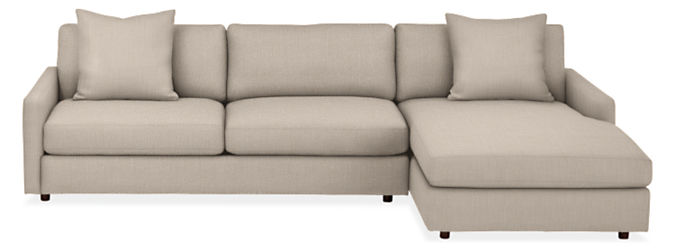 """Linger Deep 116"""" Sofa with Right-Arm Chaise"""