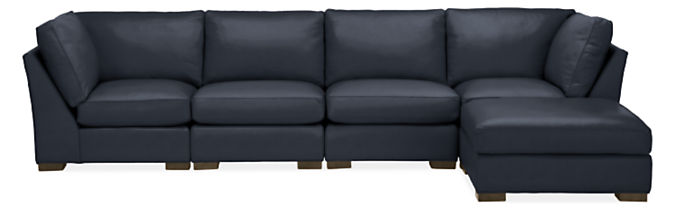 """Metro 138x76"""" Five-Piece Modular Sectional with Ottoman"""