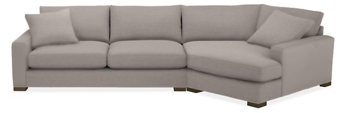 "Metro Deep 149"" Sofa w/Right-Arm Angled Chaise"