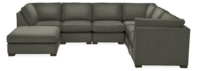 """Morrison 148x116"""" Seven-Piece Modular Sectional with Ottoman"""