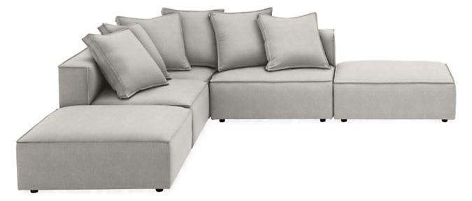 """Oasis 118x118"""" Five-Piece Modular Sectional with Otto"""
