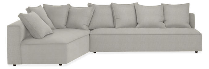 """Oasis 130"""" Armless Sofa with Right-Arm Corner Wedge"""