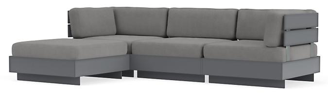 "Omni 111x74"" Four-Piece Modular Sofa with Chaise"