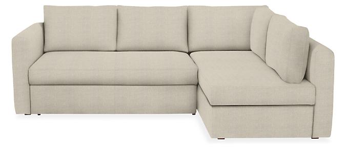 "Oxford 93"" Pop-Up Platform QN Sleeper w/Right-Arm Storage Chaise Fabric"