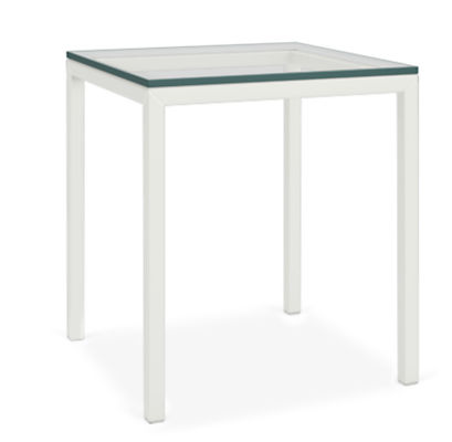 """Parsons 18w 18d 22h Outdoor Side Table with 1"""" Leg"""