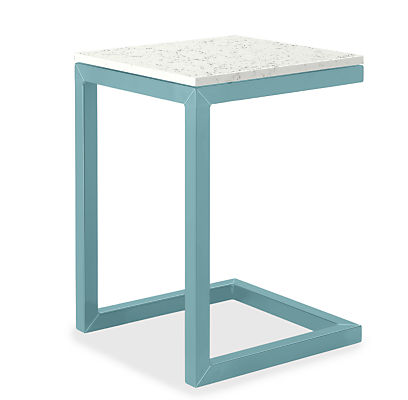 """Parsons 18w 18d 25h Outdoor C-Shaped End Table with 1.5"""" Leg"""