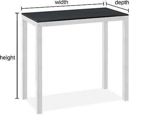 """Parsons Custom Outdoor Table with 2"""" Leg"""