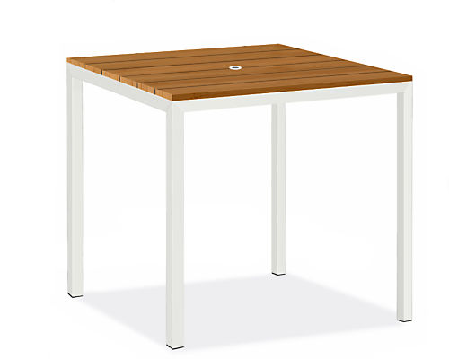 """Parsons 36w 36d 35h Outdoor Counter Table with Umbrella Hole and 2"""" Leg"""