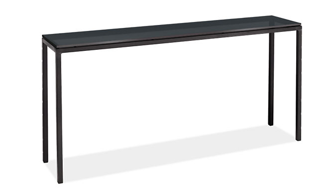 """Parsons 60w 12d 29h Console Table with 1"""" Leg"""