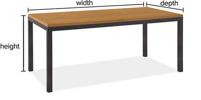 "Parsons Custom Table with 2"" Leg"