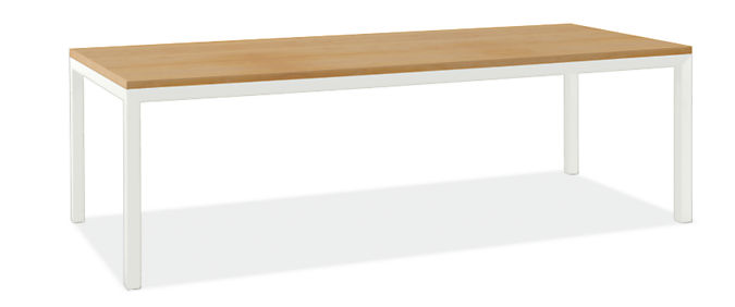 """Parsons 96w 34d Table with 2"""" Leg"""