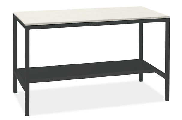 """Parsons 60w 36d 35h Narrow Shelf Counter Table with 1.5"""" Leg"""