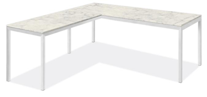 """Parsons L-Shaped Desk 72w 36d with 60w 24d Return & 1.5"""" Leg"""