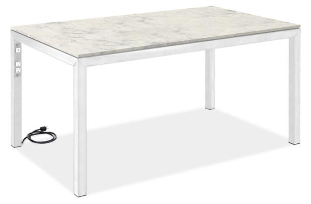 """Parsons 60w 36d 29h Desk with Left Power Cord & 2"""" Leg"""