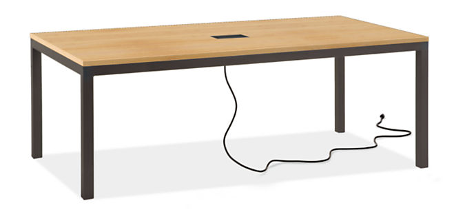 Parsons 78w 42d Table with Tabletop 3-Port Power & Charging Outlet
