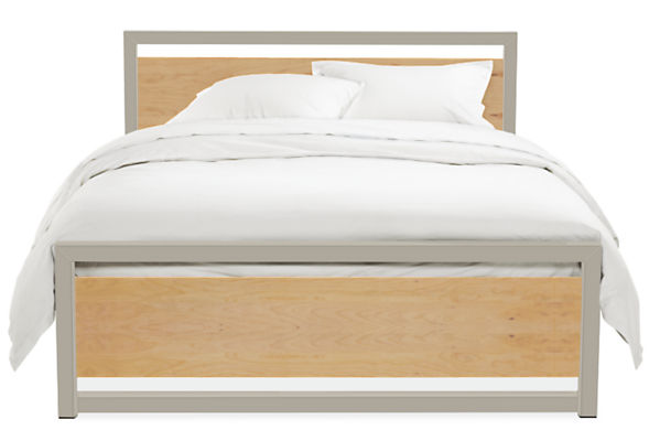 Piper Queen Bed with Wood Panels