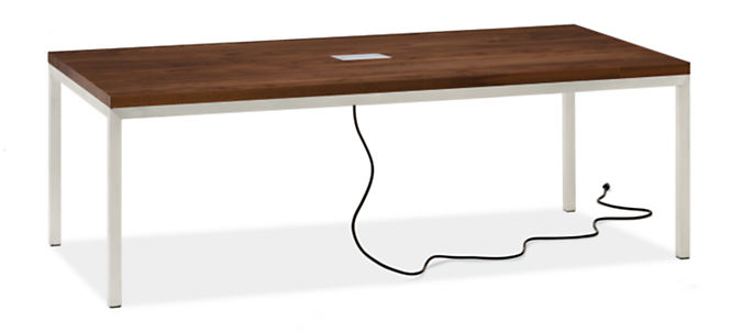 Portica 78w 42d Table with Tabletop 3-Port Power & Charging Outlet