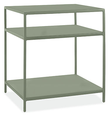 Slim 20w 18d 22h End Table with Shelves