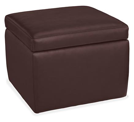 Tyler Leather Storage Ottomans Modern Living Room Furniture Room Board