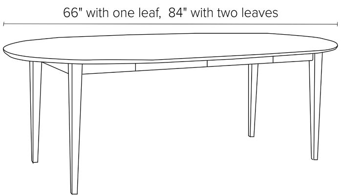 48 diam table shown