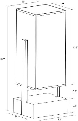 Line drawing of Adwell lamp