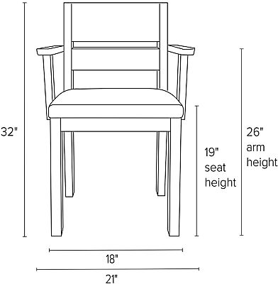 Illustration of Afton arm chair