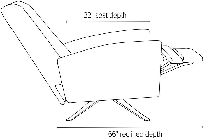 Open dimensions for all Arlo recliners