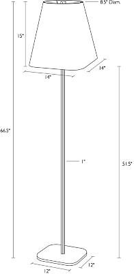 Detail of Barlow floor lamp dimension drawing