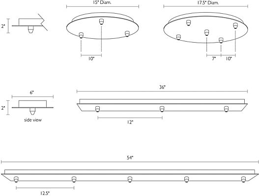 Detail of Canopy dimension drawings