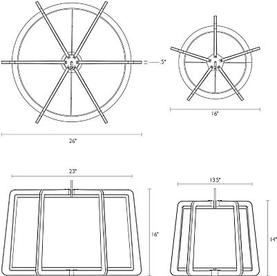 Detail of Fairbanks pendant dimensions