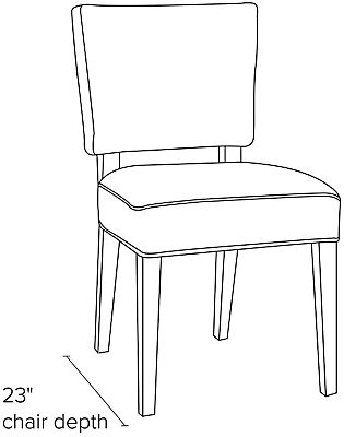 Side view dimension illustration of Georgia side chair