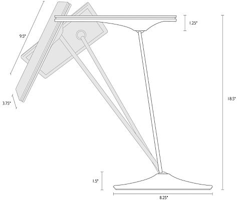 Detail of Horizon table lamp dimension drawing