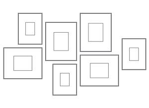 Arrange a Modern Frame Wall