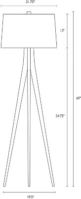Detail of Lane floor lamp dimension drawing
