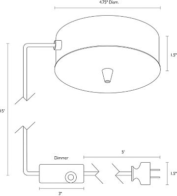 Detail of Tandem surface mount dimension drawing