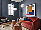 Walls in Hirshfield's Paint, Seal Blue