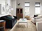 Ada Sofa and Swivel Chairs in Small Space