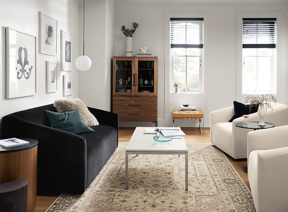 Ada Sofa and Swivel Chairs in Living Room