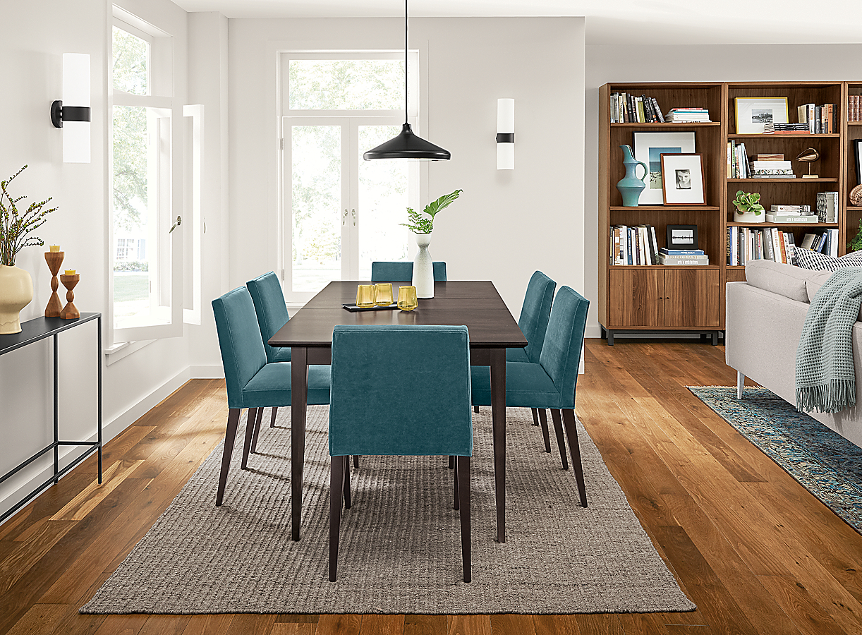 Adams Table with Ava Chairs in Dining Room