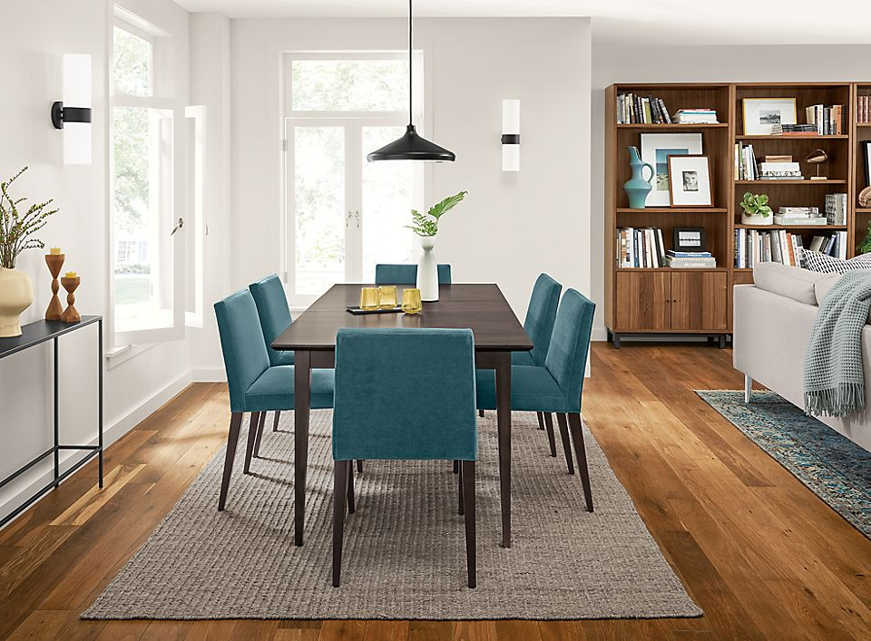Adams Table With Ava Chairs In Dining Room Room Board